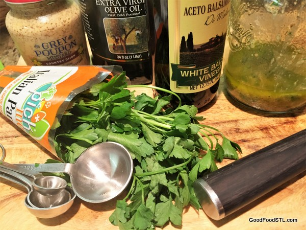 Ingredients for Mustard Vinaigrette