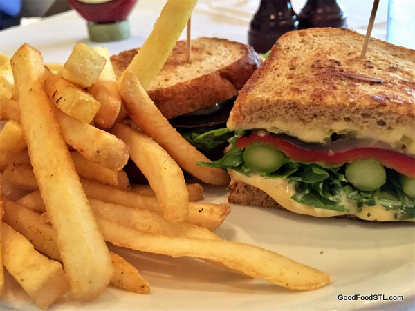 Cardwell's Vegetable Sandwich and fries