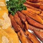 Roasted Sweet Potato Fries Fly Off the Plate