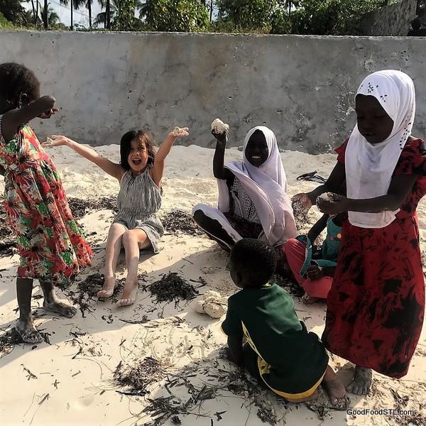 Kids on Tanzanian beach