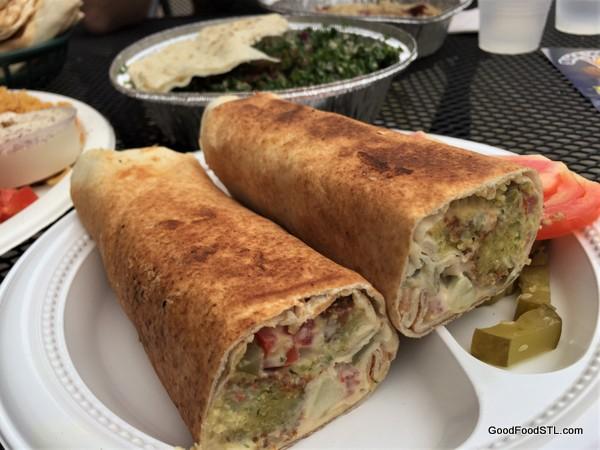 Shawarma King falafel sandwich