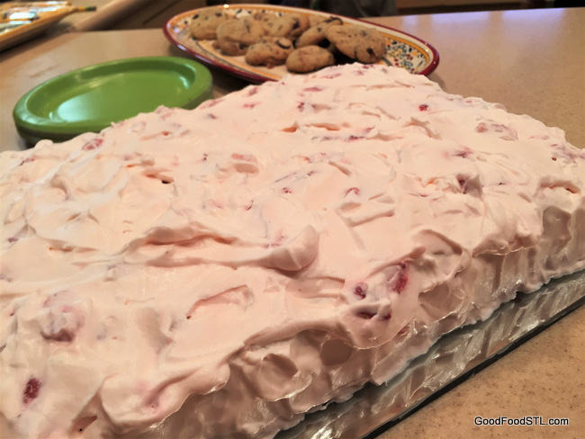 Strawberry and Cream Sheet Cake