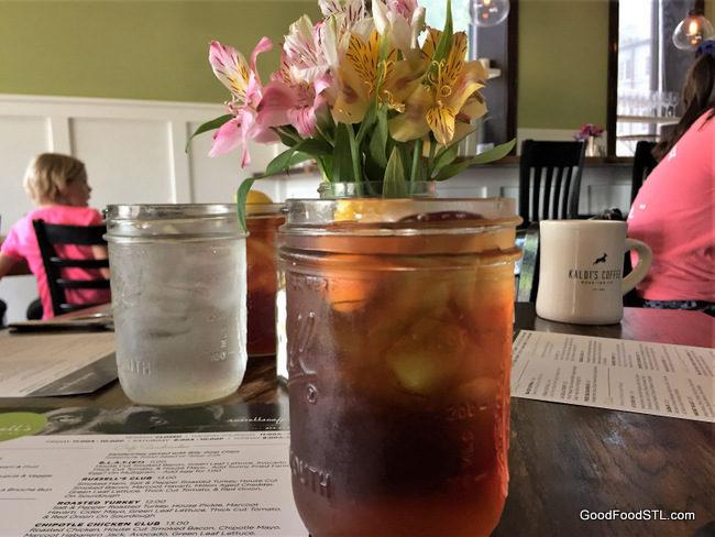 iced tea at Russell's on Macklind
