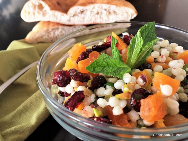 Couscous with Pistachios, Apricots & Cranberries