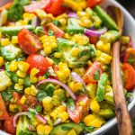 Avocado Corn Salad is a Pallete of Summer Colors
