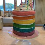 A Rainbow Explosion Birthday Cake