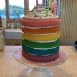 A Rainbow Explosion Birthday Cake