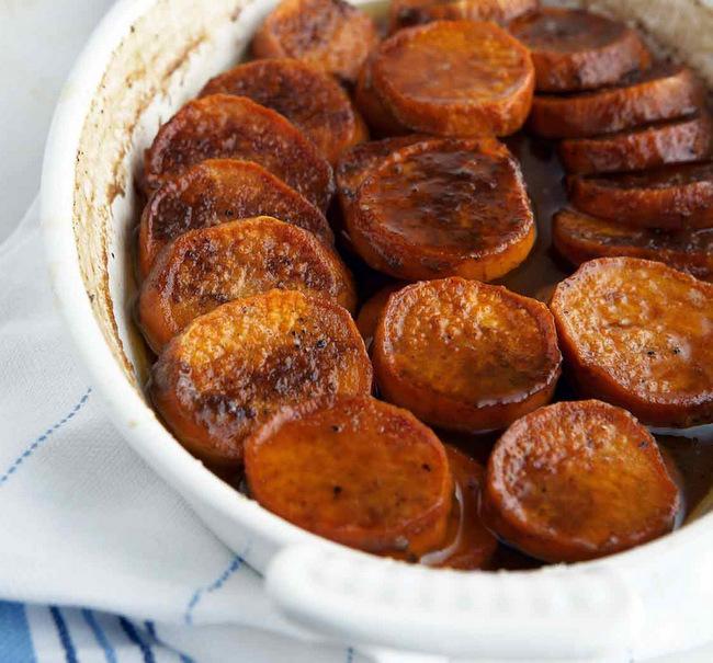 Boozy Sweet Potato Slices