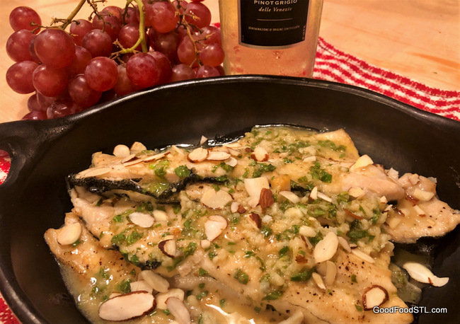 Trout with White Wine and Butter Sauce